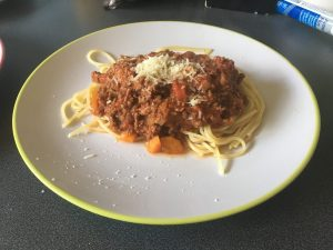 A plate of home cooked pasta