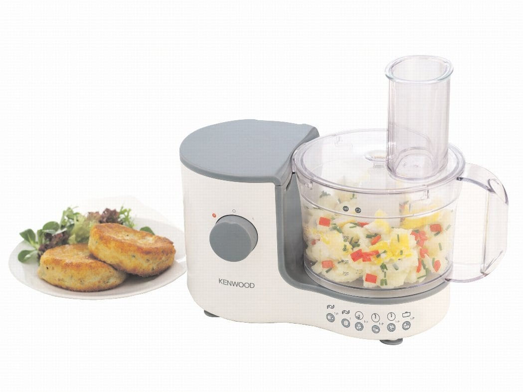 food processor with chopped ingredients