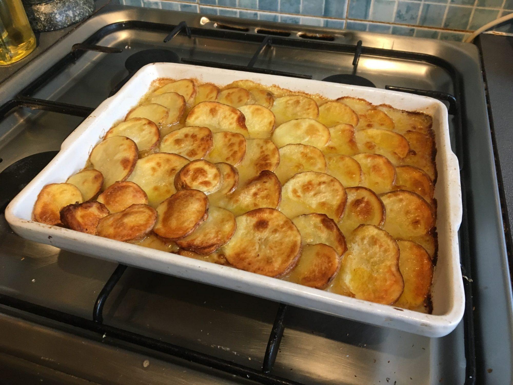 chicken pie with potato top
