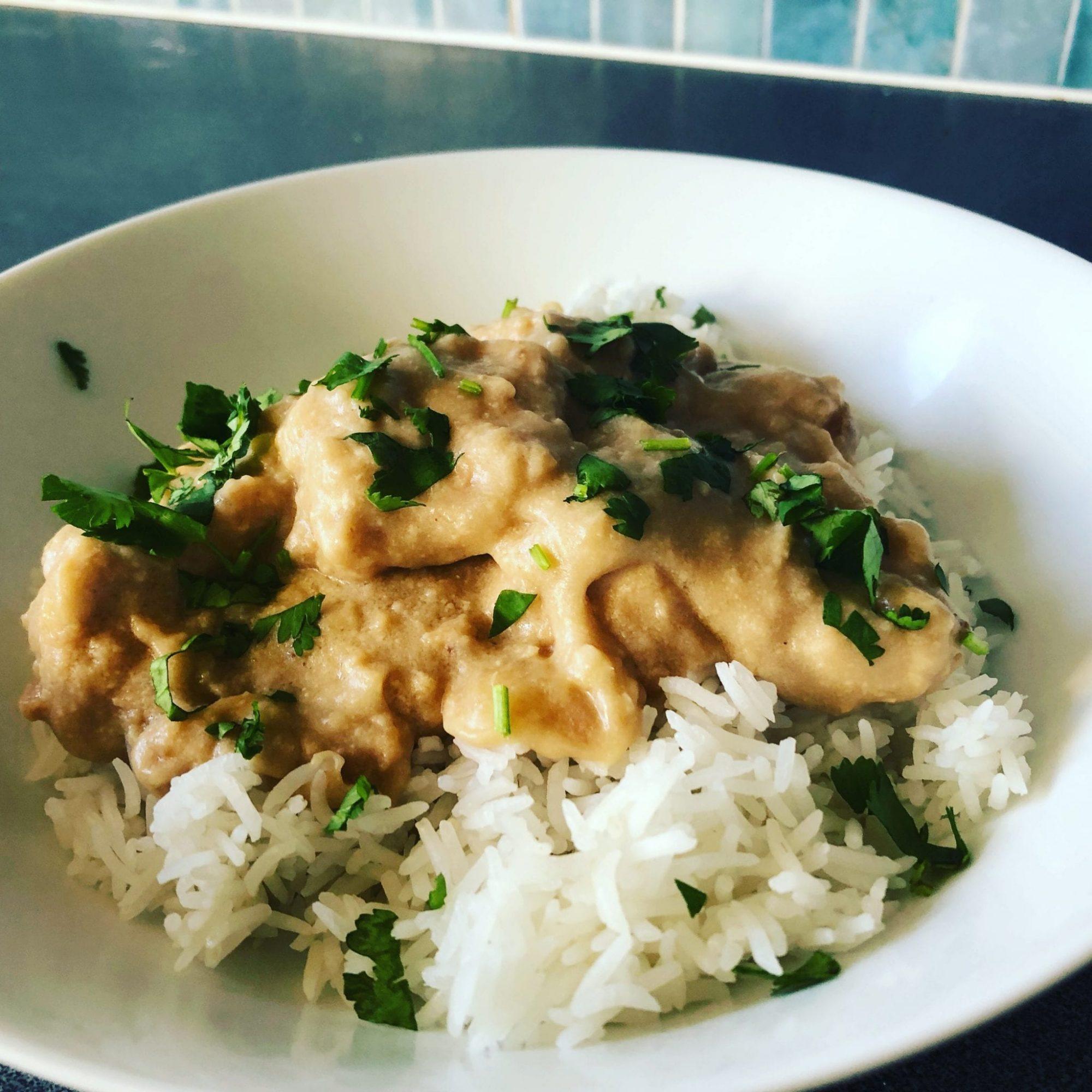 Thai peanut chicken with rice